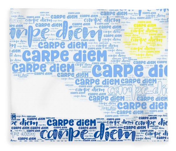 Fleece Blanket featuring the digital art Carpe Aestatem by Bee-Bee Deigner
