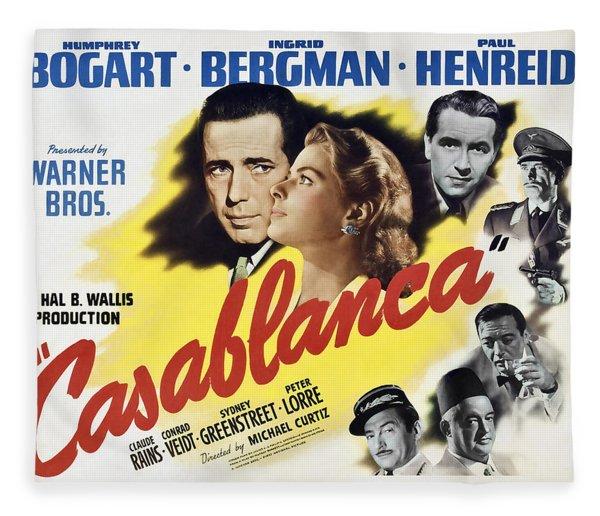 Casablanca Movie Lobby Poster 1942 Fleece Blanket
