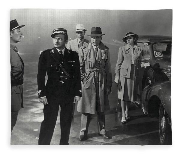 Casablanca Movie Still  1942 Fleece Blanket