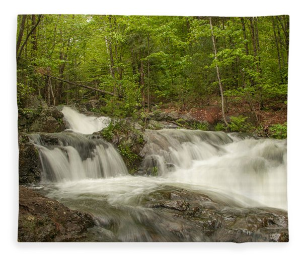 Cascades On The Brooks Falls Trail Fleece Blanket