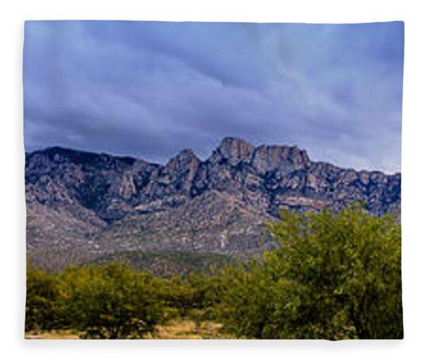 Catalina Mountains P1 Fleece Blanket