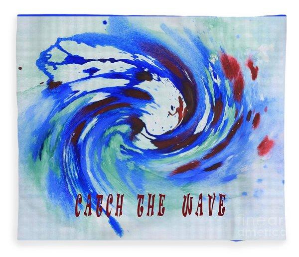 Catch The Wave Fleece Blanket