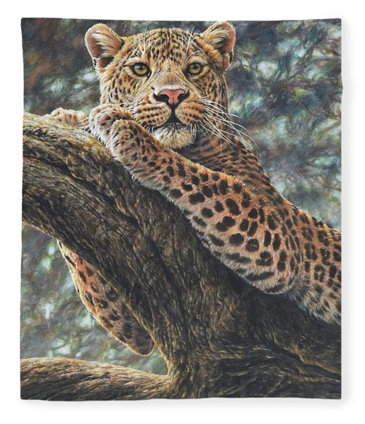 Fleece Blanket featuring the painting Catching The Sun by Alan M Hunt