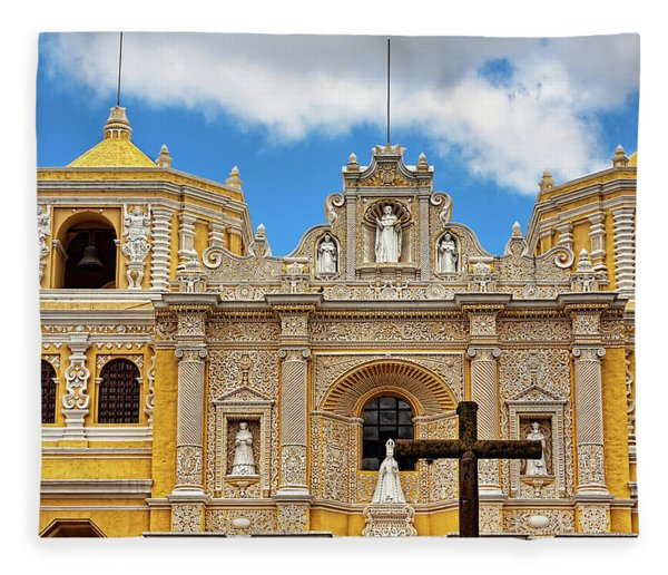 Cathedral In Antigua, Guatemala Fleece Blanket