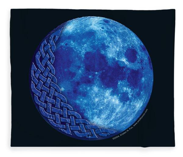 Celtic Blue Moon Fleece Blanket