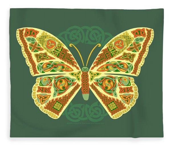 Celtic Butterfly Fleece Blanket