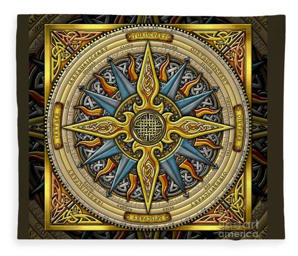 Celtic Compass Fleece Blanket