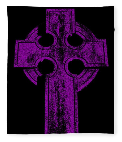 Celtic Cross Fleece Blanket