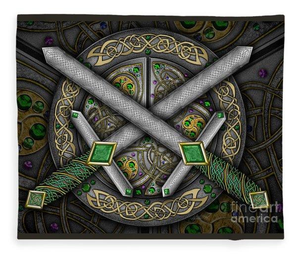 Celtic Daggers Fleece Blanket