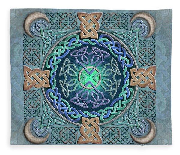 Celtic Eye Of The World Fleece Blanket
