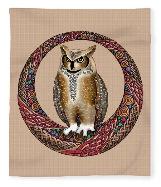 Celtic Owl Fleece Blanket