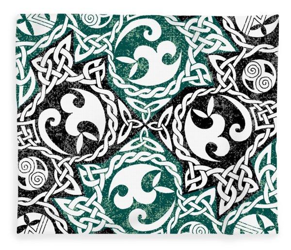 Celtic Puzzle Square Fleece Blanket
