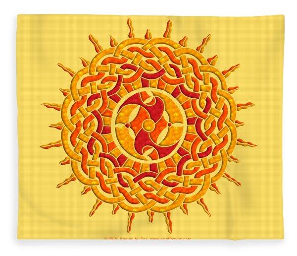 Celtic Sun Fleece Blanket