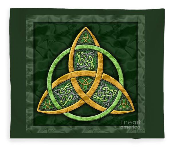 Celtic Trinity Knot Fleece Blanket