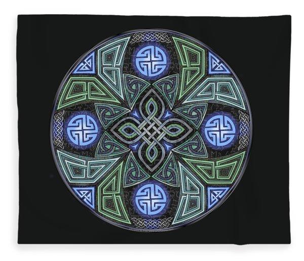 Celtic Ufo Mandala Fleece Blanket