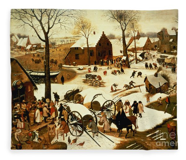 Census At Bethlehem Fleece Blanket