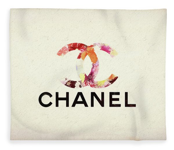 Chanel Floral Texture  Fleece Blanket