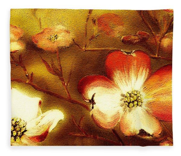 Cherokee Rose Dogwood - Glow Fleece Blanket