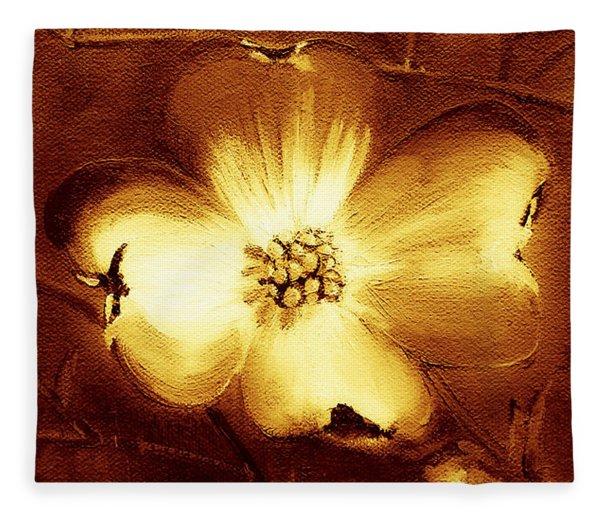 Cherokee Rose Dogwood - Single Glow Fleece Blanket