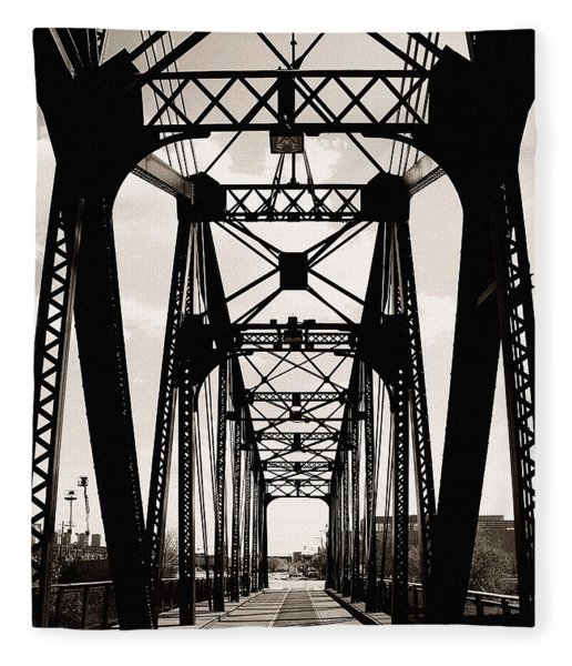Cherry Avenue Bridge Fleece Blanket