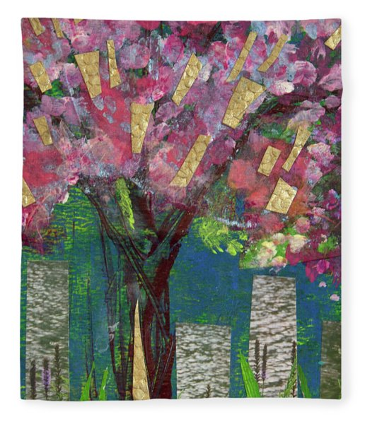 Cherry Blossom Too Fleece Blanket