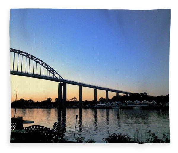 Chesapeake City Fleece Blanket