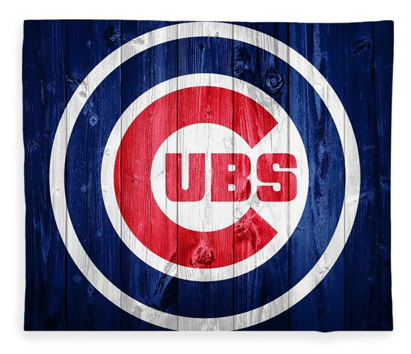 Chicago Cubs Barn Door Fleece Blanket