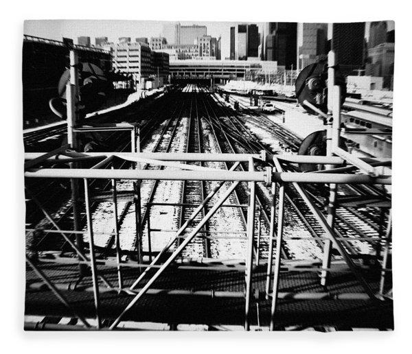 Chicago Railroad Yard Fleece Blanket