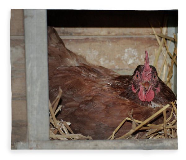 Chicken Box Fleece Blanket