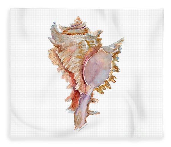Chicoreus Ramosus Shell Fleece Blanket