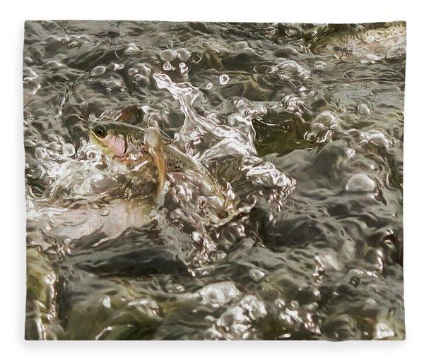 Chinook Salmon  Fleece Blanket