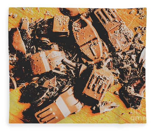 Chocolate Demolition Derby Fleece Blanket
