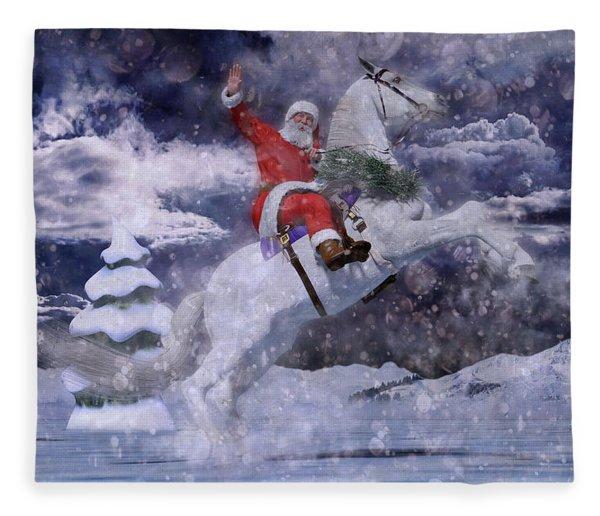 Christmas Spirit Fleece Blanket