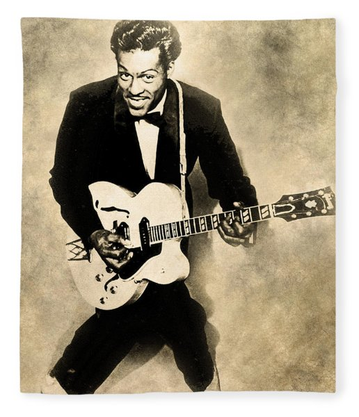Chuck Berry Fleece Blanket