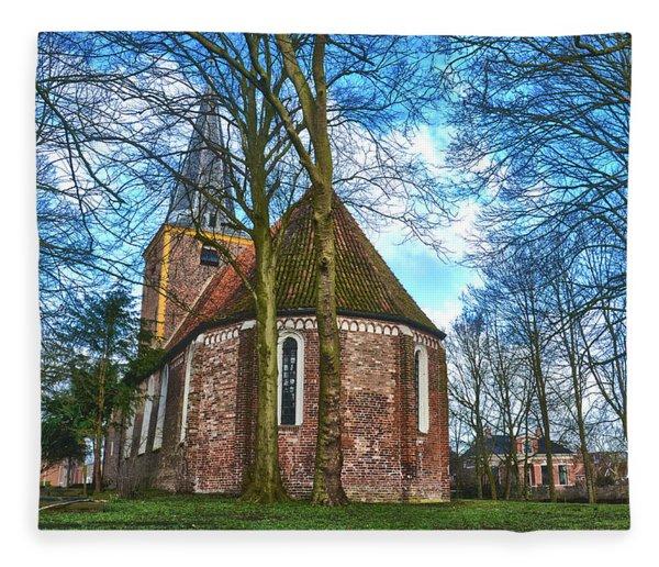 Church In Winsum Fleece Blanket