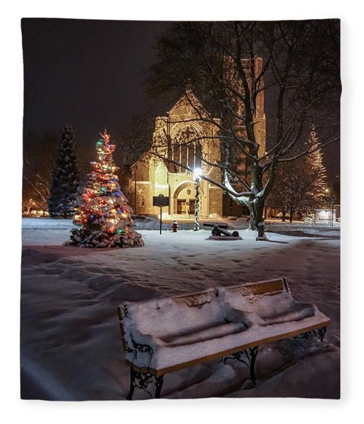 Church Of St Mary St Paul At Christmas Fleece Blanket