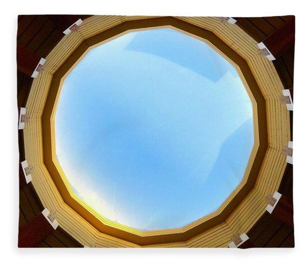 Circle Skylight Fleece Blanket