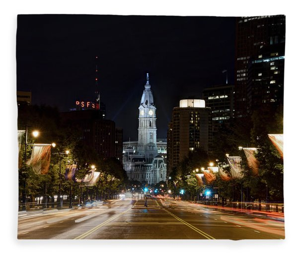 City Hall From The Parkway Fleece Blanket