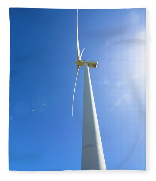 Clean Blue Energy Fleece Blanket