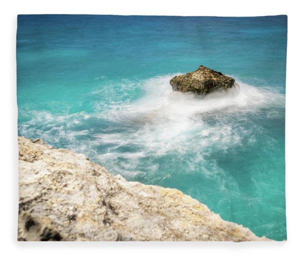 Cliff Views In Negril Fleece Blanket