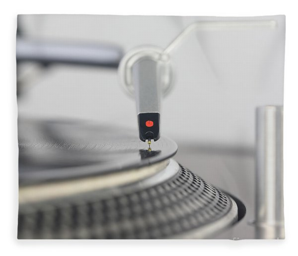 Closeup Of The Legendary Technics Sl 1200 Mk2 Turntable Fleece Blanket