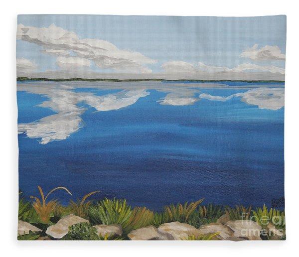 Cloud Lake Fleece Blanket
