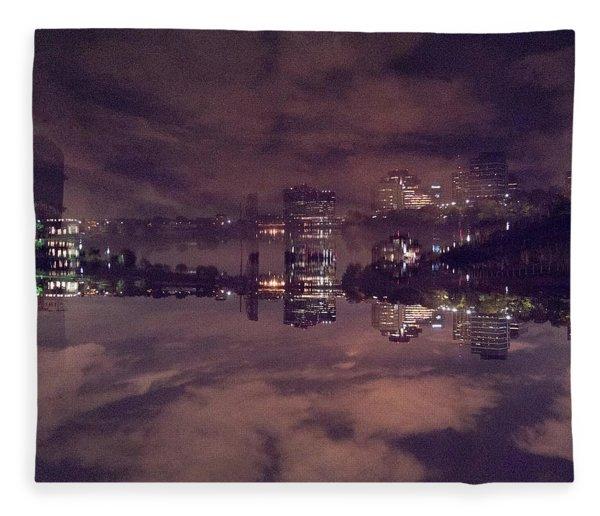 Clouds In The Passaic - Newark Nj Fleece Blanket