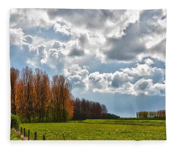 Clouds Over Voorne Fleece Blanket