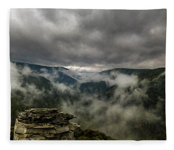 Clouds Rising At Lindy Point Fleece Blanket