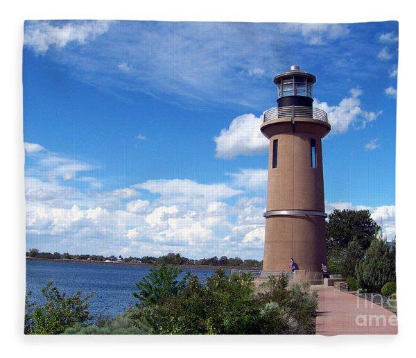 Clover Island Lighthouse Fleece Blanket