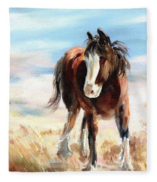 Clydesdale Foal Fleece Blanket