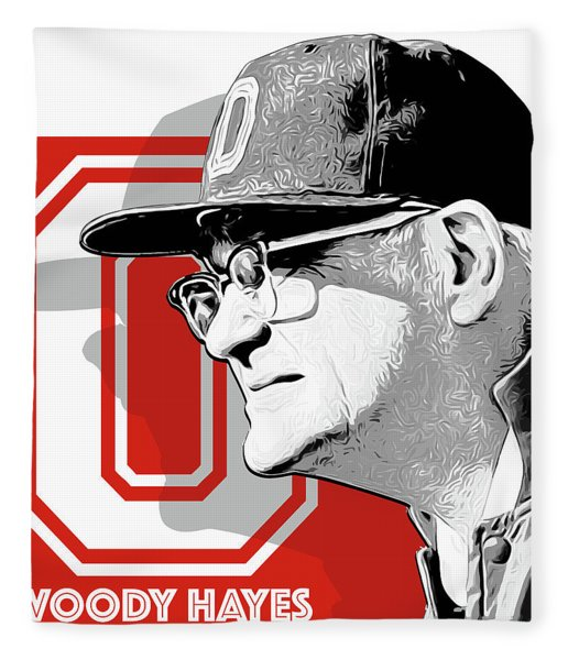 Coach Woody Hayes Fleece Blanket