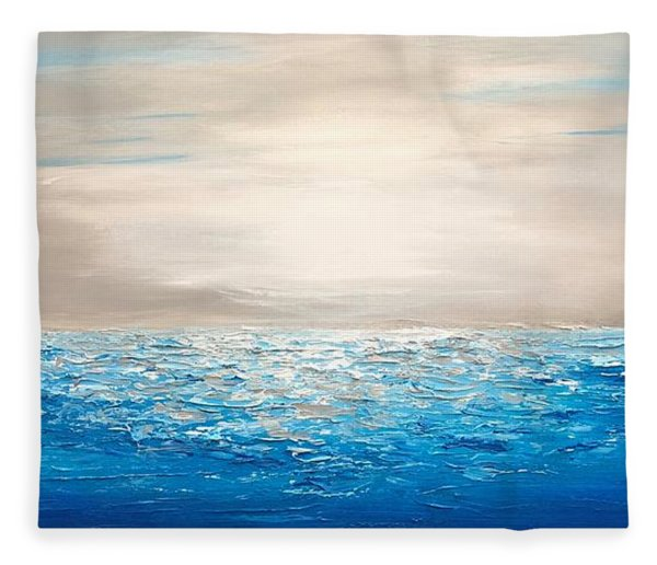 Coastal_4 Fleece Blanket