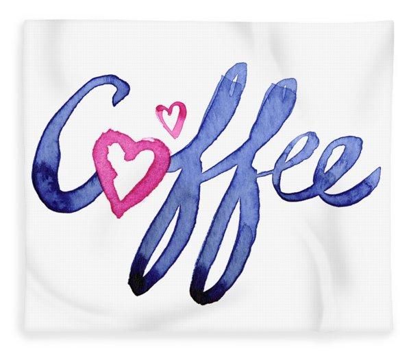 Coffee Lover Typography Fleece Blanket